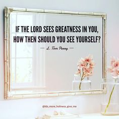 Quote - If the Lord sees greatness in your, how then should you see yourself? Religious Quotes, Spiritual Quotes, Positive Quotes, Mormon Quotes, Gospel Quotes, Bible Quotes, Church Quotes, Saint Quotes, Lds Church