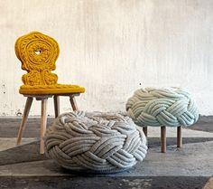 HOME DZINE Home Decor | Claire-Anne O'Brien Knit Stools