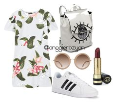 Lazy cassual by anggierozyan on Polyvore featuring polyvore, fashion, style, MANGO, adidas, Alice + Olivia, Gucci and clothing
