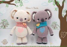 Amigurumi Patrón: Koalas San Valentín – Gina y Dante