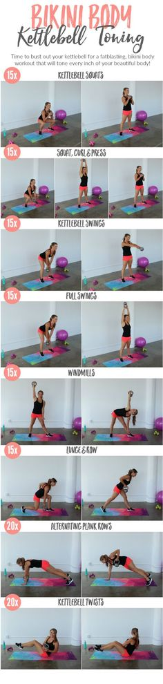 Tone every inch with this Bikini Body Kettlebell Toning Workout! thelivefitgirls… Tone every inch with this Bikini Body Kettlebell Toning Workout! Fitness Workouts, Strength Training Workouts, Toning Workouts, Weight Training, At Home Workouts, Fitness Motivation, Training Motivation, Workout Kettlebell, Killer Workouts