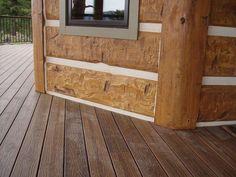 Golden Colorado Residence Profile 16 Hand Hewn Everlog Concrete Log Siding Fiber Cement