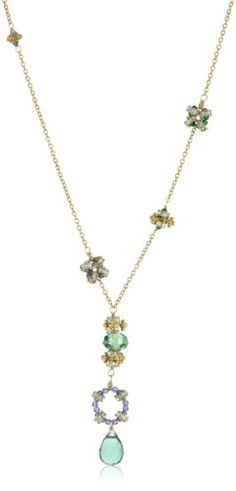 "Diane Yang ""Aasha"" Emerald Quartz Y Pendant Necklace « Holiday Adds"
