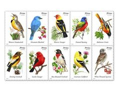 USPS Forever Stamps Songbirds Booklet of 20 USPS…