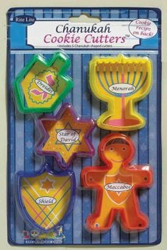 Hanukkah cookie cutters  We used these last year and made fantastic cookies :3
