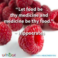 """""""Let food be thy medicine and medicine be thy food."""" ~ Hippocrates   #UrthBox #Health #Food #Quotes #Hippocrates #HealthySnacks #Snacks"""
