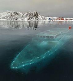 Sunken Boat, Antarctica
