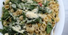 Orechiette with spinach, toasted garlic, tomato and basil - Chef Lisa Stalvey