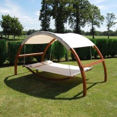 This swing bed is dreamy