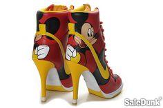 Mickey Mouse Nike Dunk High Heels Red - OMG I soooo need these!!