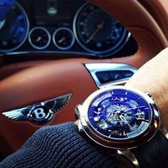 Perrelet Split - Second Chronograph Louis - Frederic và siêu xe Bentley