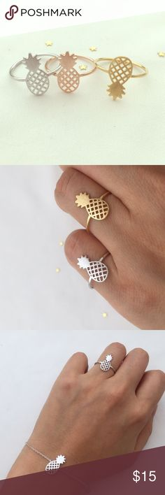 Flying pineapple ring •Made in Korea •high quality stone and polish •Brand new one •www.Luvvi9.com Luvvi9 Jewelry Rings