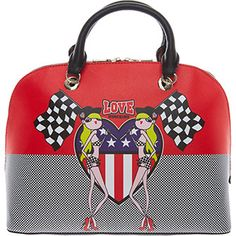 Love Moschino Black & Red Racing Graphic Bag