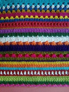 Bright colors and mixed stitch rows, endless possibilities.