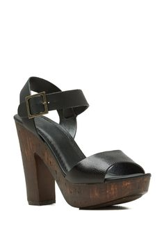 Hi Scale Chunky Faux Wood Platforms BLACK
