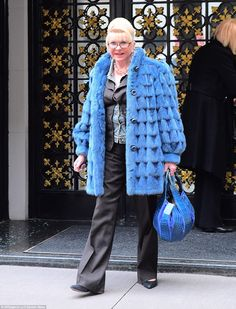 On her way:Ivana Trump was photographed leaving her New York City townhouse on Thursday afternoon