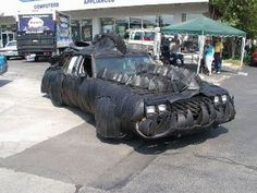 tirezilla art car- the fact that it was decorated with shreds of old tires makes this one amazing!