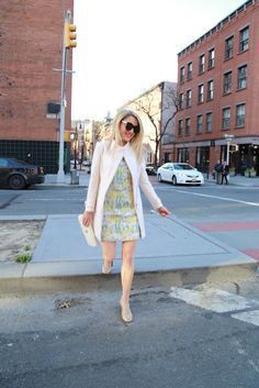 Caitlin Hartley of Styled American short floral mod dress http://styledamerican.com/an-easter-look/