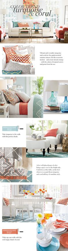 Summer Color Trend: Coral and Turquoise