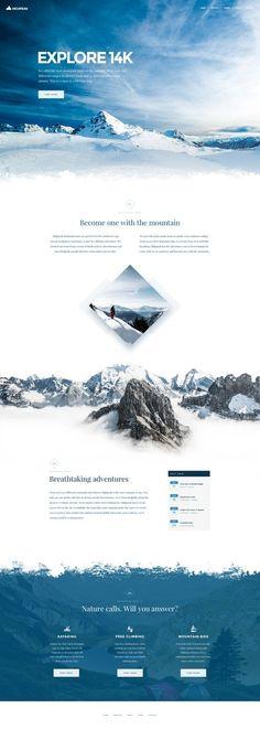 Explore 14k - Theme Ui design concept for @weebly website builder, by Corey Haggard.