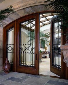 Elegant Double Front Doors – House Stay