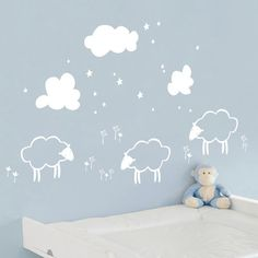 ADZif Piccolo Little Sheeps Wall Decal//
