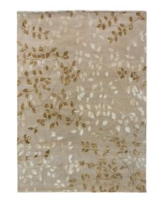 """Living Room  """"Tufted Leaves"""" Rug - Horchow"""