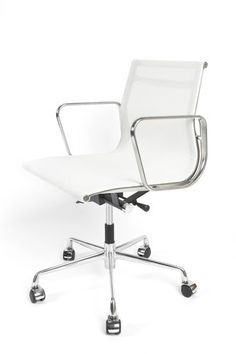 Eames Low back MESH office chair Mesh Office Chair, Office Seating, Charles Eames, Funky Furniture, Chrome Plating, London, Steel, Ebay, Home Decor