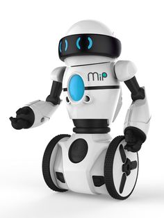 WowWee MiP has six programmed modes: Tricks, Roam, Track, Dance, Cage, and Stack. Roam, for example, allows the toy to navigate a room by itself and avoid detected obstacles. MiP is powered by four AAA batteries.