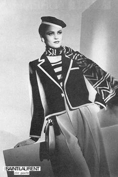 翻開1980年的 Vogue:Saint Laurent 設計依舊時尚大器!