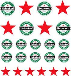 Heineken Beer Nail Decals