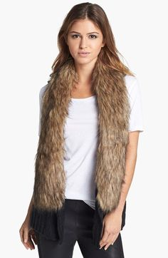 BB Dakota 'Perri' Faux Fur Collar Knit Vest available at #Nordstrom