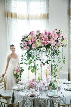 Stop & Look: 4 Intimate Wedding Styles with EMC Romantic Wedding Centerpieces, Wedding Table Flowers, Wedding Reception Decorations, Floral Centerpieces, Floral Wedding, Centrepieces, Wedding Decor, Seating Arrangement Wedding, Seating Plan Wedding