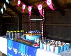 Loved the way this party was dressed. 40th Birthday Themes, Boy Birthday Parties, Teenage Boy Birthday, 21st Party, Party Buffet, Sports Party, Party Themes, Party Ideas, How To Make Cake