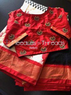 Pattu Saree Blouse Designs, Stylish Blouse Design, Fancy Blouse Designs, Bridal Blouse Designs, Maggam Work Designs, Sleeves Designs For Dresses, Designer Blouse Patterns, Blouse Models, Sarees