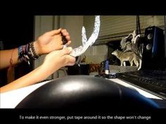 How to make costume deer Antlers - Tutorial - - YouTube
