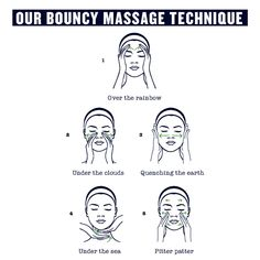 The 30-second Drops Of Youth Bouncy Sleeping Mask facial massage technique everyone should try.  This massage routine stimulates your lymphatic system, encourages circulation and better absorption of the mask for skin that feels renewed and bouncy.  #dropsofyouth