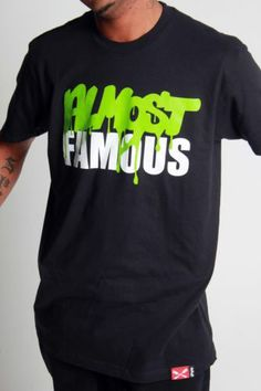 Wild 100s Entree Almost Famous Tee Black Lime Green White #fashion #urban #hiphop #streewear #swag #dope #clothing #ebay #deal #shirt #wild100s
