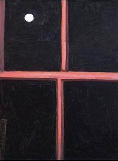 """Lois Dodd, """"Winter Window Moon"""", 1983"""