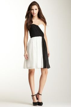 Donna Morgan Cooper Strapless Sweetheart Dress $69
