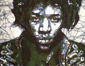 Jimi Hendrix in Green by Musik Gallery