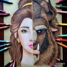 Beauty and the Beast - Belle. Hayao Miyazaki, Disney and Animé in Colored Drawings. To see more art and information about dada click the image. Heros Disney, Disney Art, Disney Characters, Disney Movies, Disney Drawings, Cool Drawings, Pencil Drawings, Beautiful Drawings, Drawing Disney