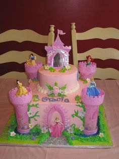 Made with Disney Princess Cake Kit...Moat not included.