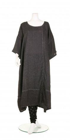Barbara Speer Anthracite Linen Zip Dress - Barbara Speer from idaretobe.com UK