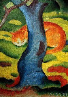 Franz Marc - Cat under a tree