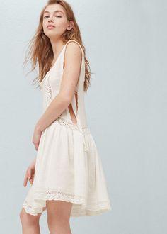 Robe brodée coton -  Femme | MANGO France