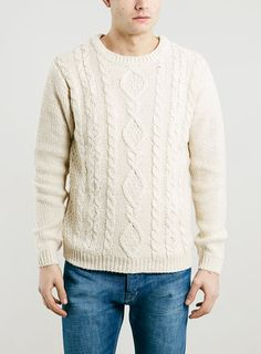 Oat Cable Crew Neck Jumper