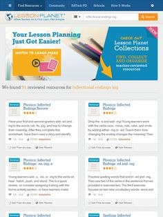Print Teacher-Reviewed Worksheets and Lesson Plans about INFLECTIONAL ENDINGS ING