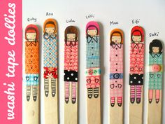 Omiyage Blogs: DIY Washi Tape Lolly Dollies  sjove ispinde