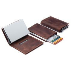 Prevent identity and credit card theft with these RFID-blocking card protectors and wallet.